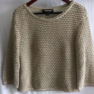 St. John Couture Scalloped Weave sweater-Sz Small